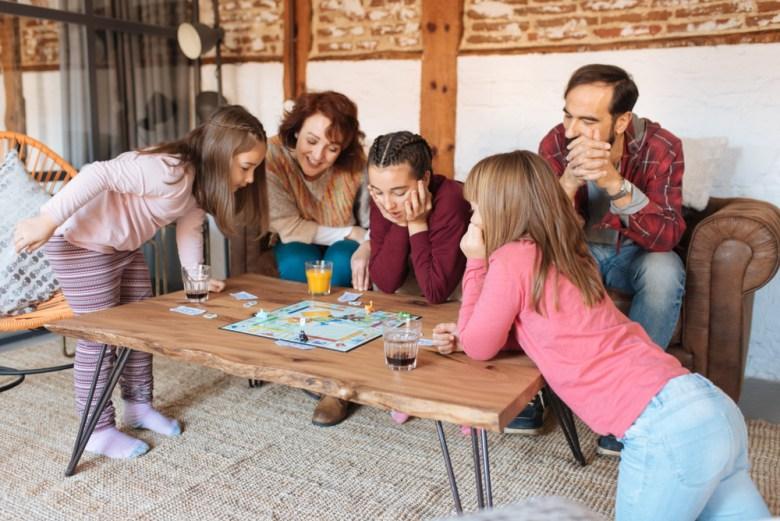 rodzina gra w gry planszowe