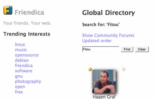 Friendica - Globales Verzeichnis