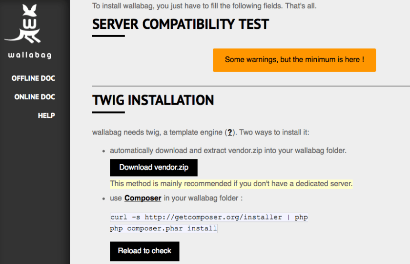 Installation - Server Compatibility Test