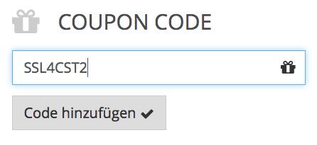 Gutscheincode für 50% Rabatt auf ein Zertifikat