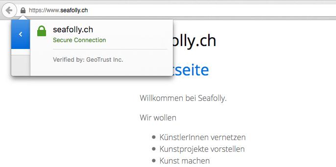 seafolly.ch mit gültigem TLS/SSL Zertifikat