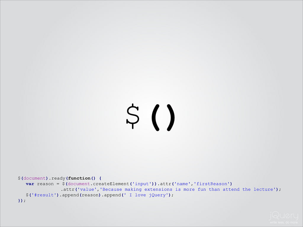 Die freie JavaScript Bibliothek jQuery