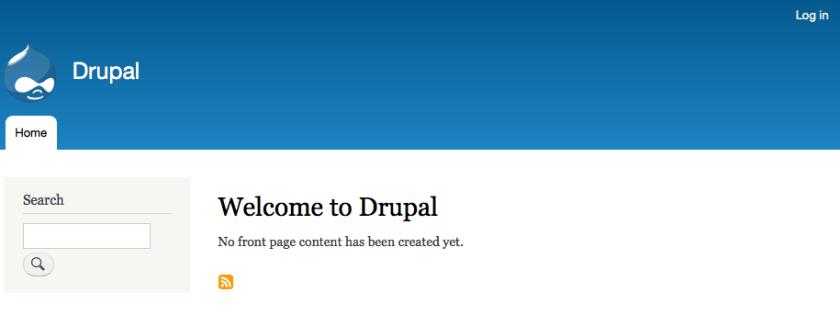 Drupal - frisch installiert