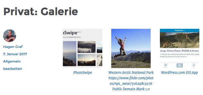 WordPress-Galerie