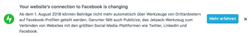 Facebook Änderung