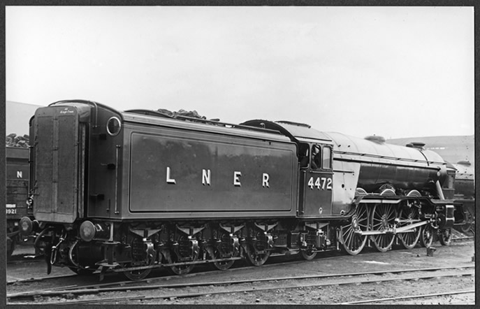 Flying Scotsman just after refurbishment in April 1928 at Doncaster Works (Image from National Railway Museum Collection)