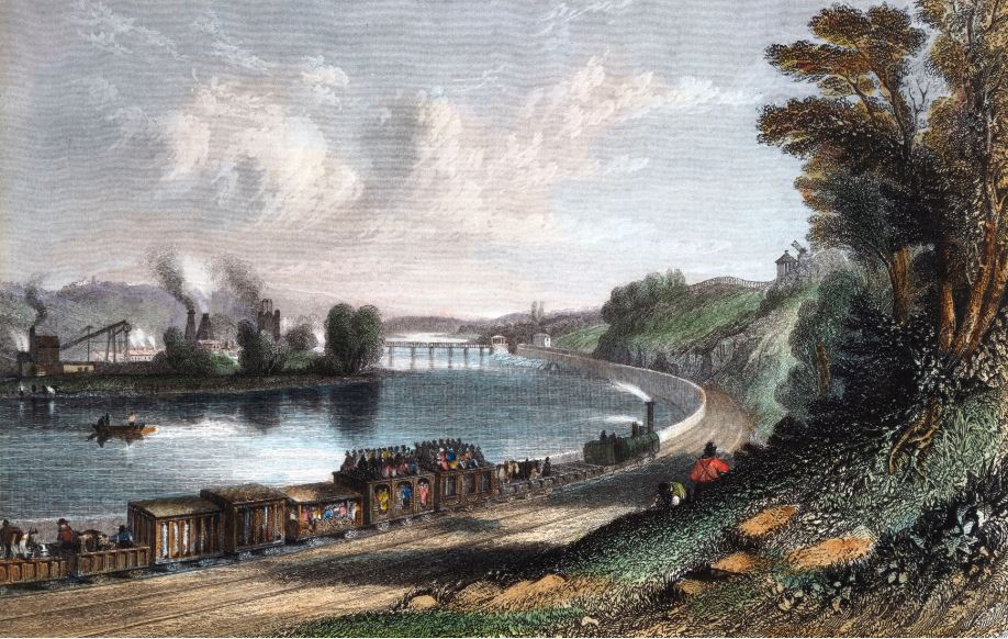 A depiction of an excursion train (SSPL images)