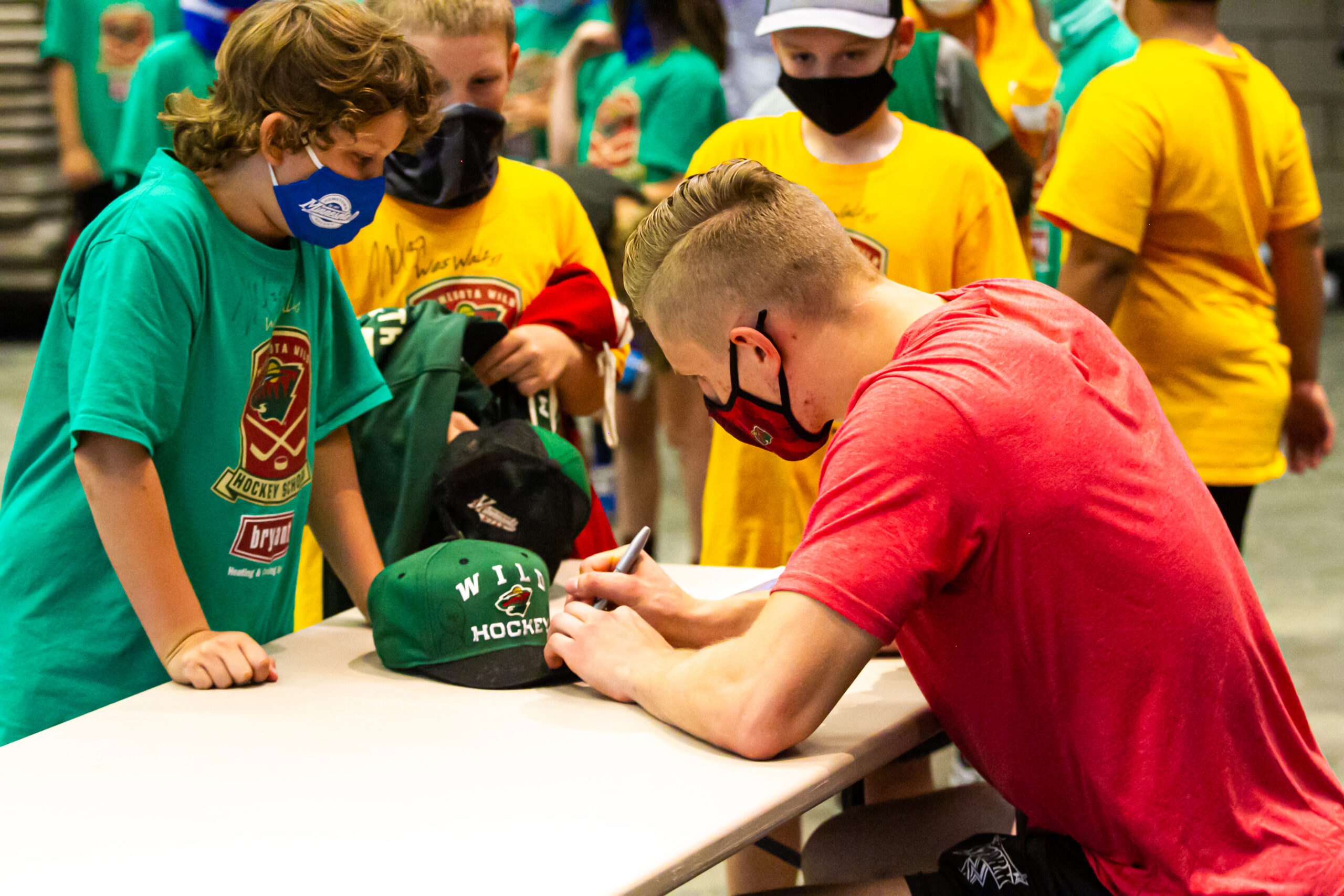 Minnesota Wild forward Nico Sturm made a guest appearance at the Wes Walz Hockey School.