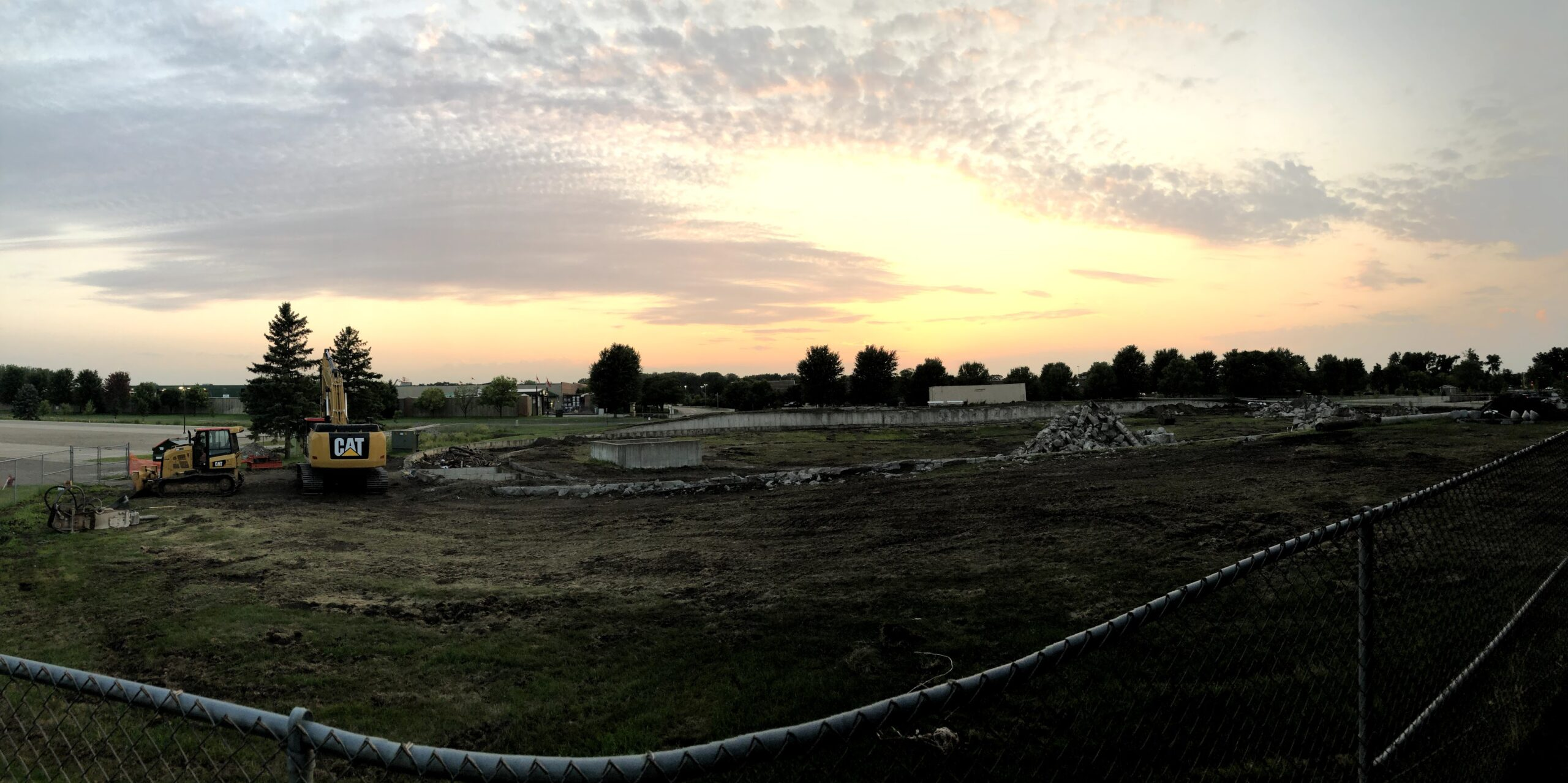 Construction to dismantle the Velodrome began on the east side of the National Sports Center campus.