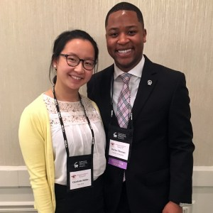 "Charlotte with Darius Thomas, NBASLH Student Representative, at the 2018 NBASLH Convention. She shared, ""The positive energy and friendships I gained from my time there are memories I'll never forget."""