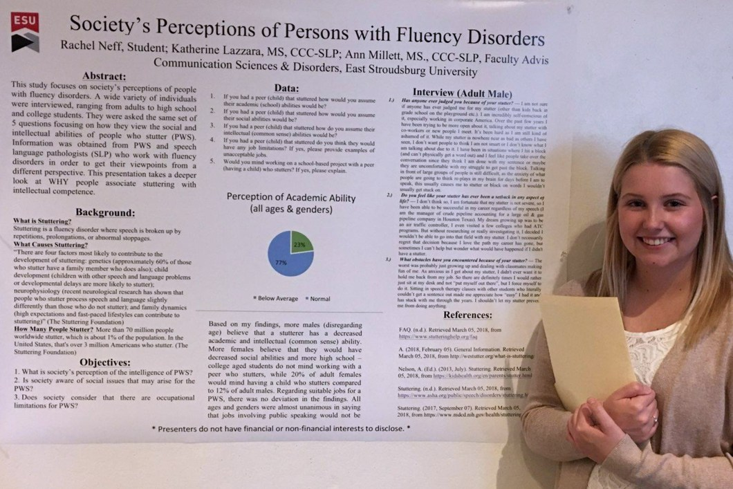 Rachel Neff presenting at the 2018 Pennsylvania Speech-Language-Hearing Association (PSHA) Conference.