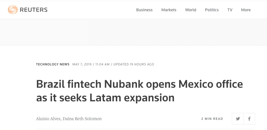 Reuters Nubank Mexico