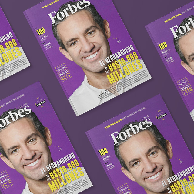 David Vélez en portada Forbes Colombia