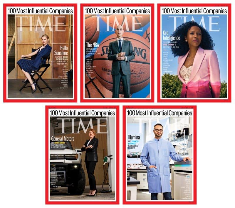 Portada revista TIME con el ranking sobre las 100 empresas más influyentes del mundo