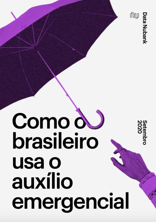 Capa com o título: Como o brasileiro usa o auxílio emergencial