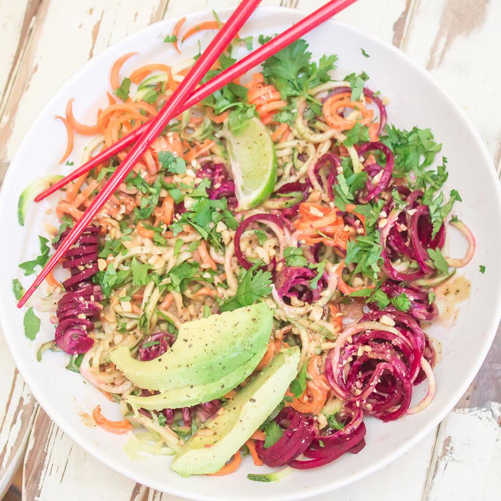 Chilled Thai Veggie Noodle Bowl