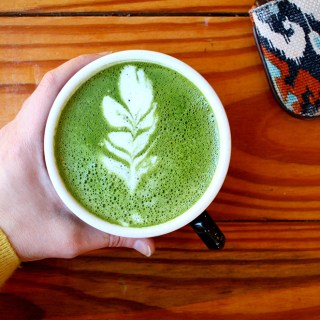 Mint-Infused Matcha Latte (+ Latte Art Tips)