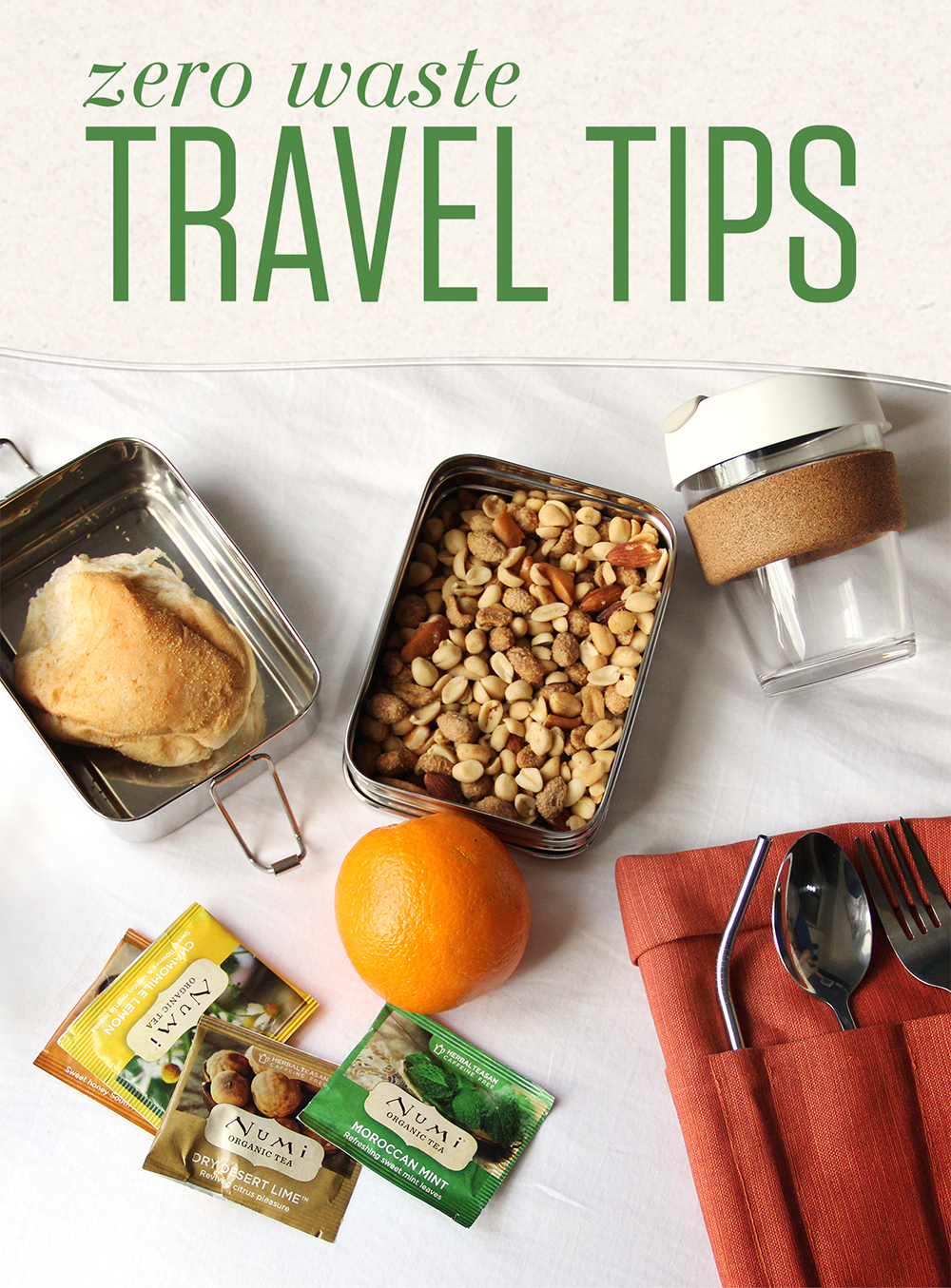 With a little planning and a few key items, you can tread lightly even when traveling abroad.