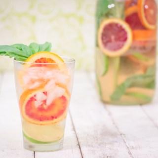 Blood Orange & Basil Sangria