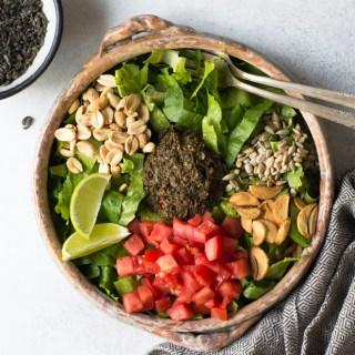 Burmese-Style Tea Leaf Salad (Vegan)