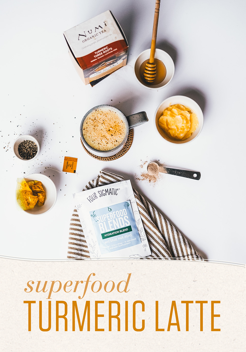 Turmeric Latte with Hydrating Superfoods
