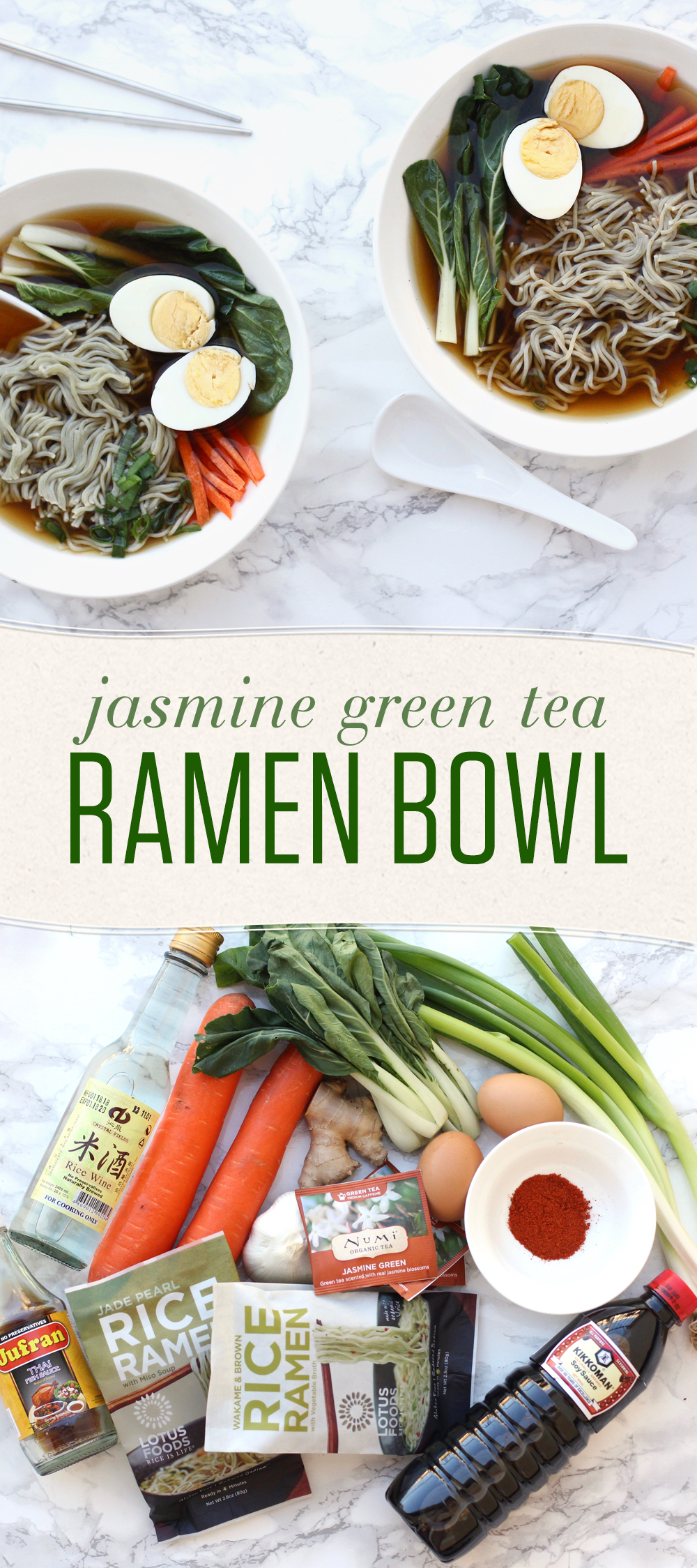 Tea is great for adding nuanced flavor to broths, baked goods, and more. This ramen recipe is easy to adapt using whatever veggies you have on hand!