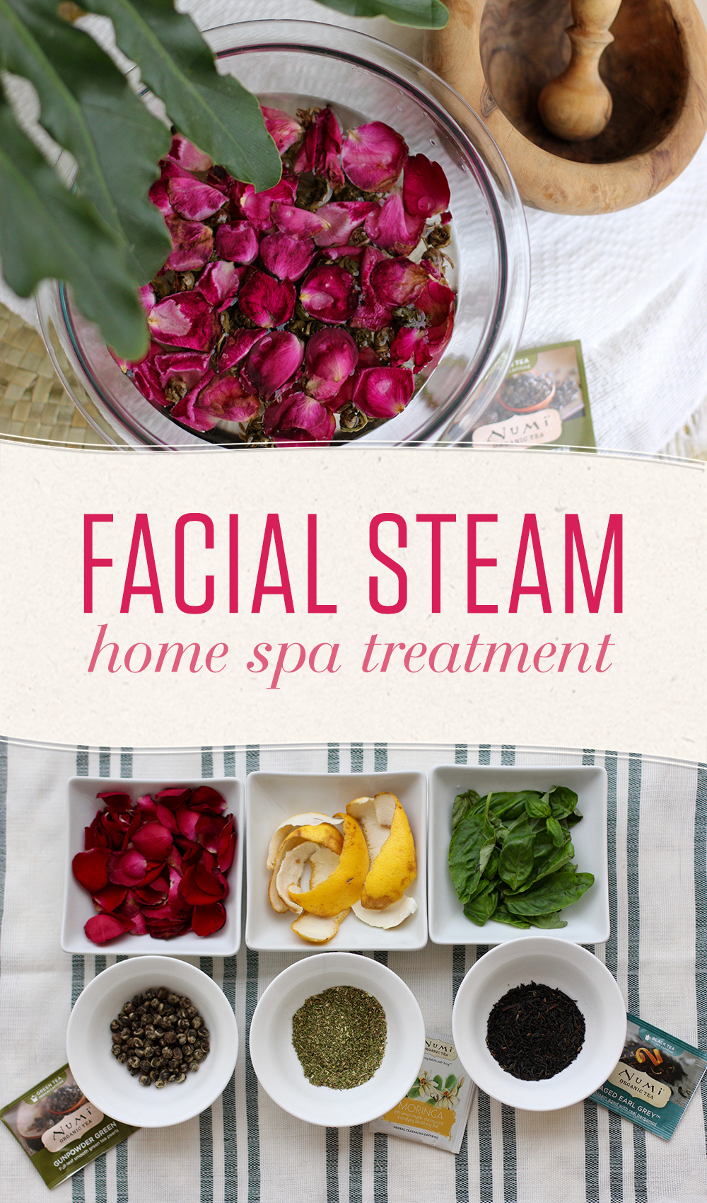 An at-home facial steam is a simple self-pampering treatment that will have you feeling like you're relaxing at a luxurious spa!