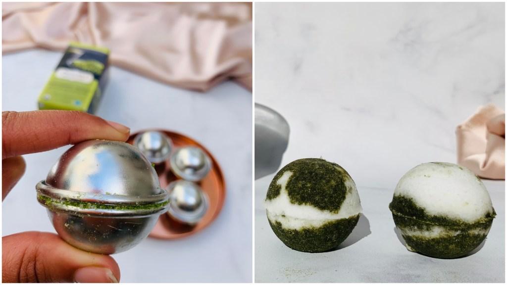 matcha green tea bath bombs