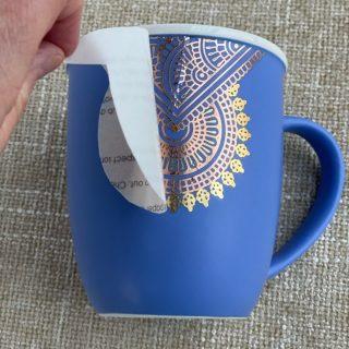 Mug with tattoo