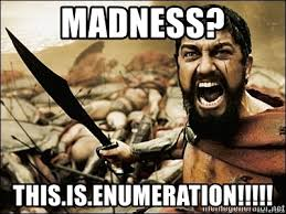 Image result for enumeration meme