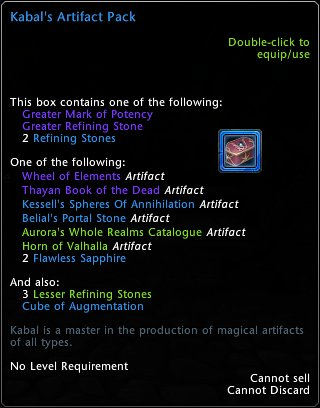 Kabal's Artifact Pack