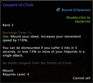 Leopard of Chult Bugged Tooltip