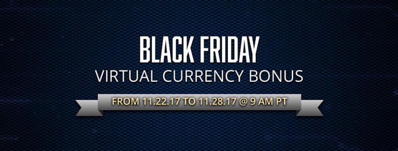 Black Friday Virtual Currency Bonus