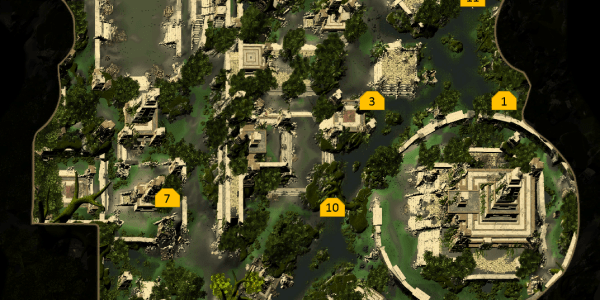 Omu Treasure Map Locations