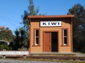 The tiny Kiwi Railway Station is now home to Tapawera Museum & Valleys Museum in Tapawera Village