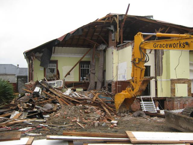 Kaiapoi Museum being demolished –13 September