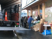 Kaiapoi Museum volunteers re-boxing the container contents for storage (4 days work) – 20 September