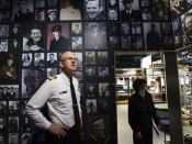 Commander David Wright inside a room at the Navy Museum dedicated to sailors who lost their lives. Photo by Paul Estcourt