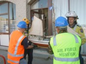 First salvage sortie from Lyttelton Museum, March 2011. Photo courtesy of Air Force Museum.