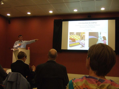 Lecture by Tom Learner, Senior Scientist, GCI. Image courtesy of Sarah Hillary, Auckland Art Gallery.