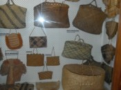 Kete collection as displayed since 1977. Image courtesy of Okains Bay Maori & Colonial Museum.