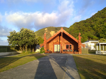 Hongoeka Marae. Image courtesy of Sally August.