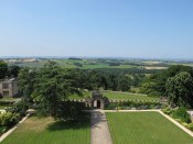 View from roof, Hardwick Hall. Image courtesy of Finn McCahon-Jones.