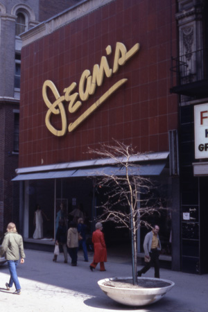 This 'modern' façade, which is very similar to what can be seen today, replaced the building's Art Deco look as early as 1951. This photograph was taken in the 1970s when Westminster Street had been turned into a pedestrian mall.