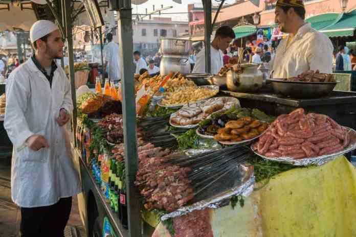 marakeş sokak yemekleri
