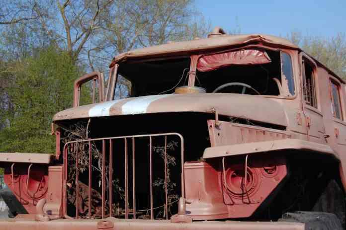 Çernobil Müzesinde Araba
