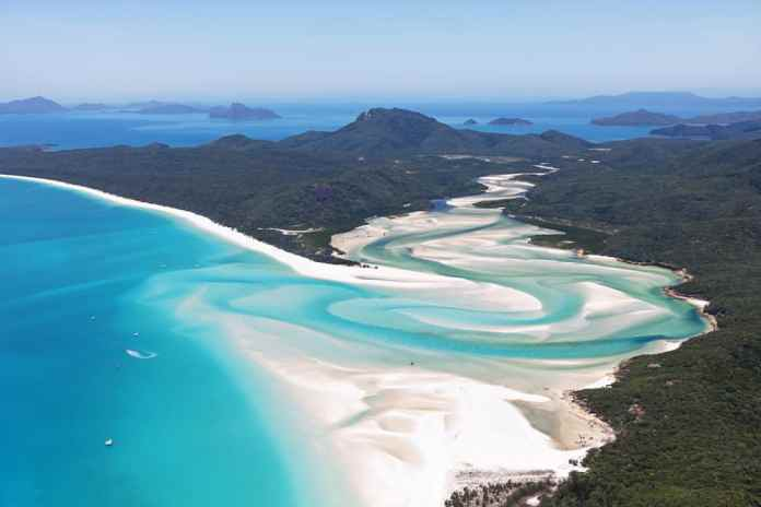 Whitehaven Plajı, Whitsunday Adası, Avustralya