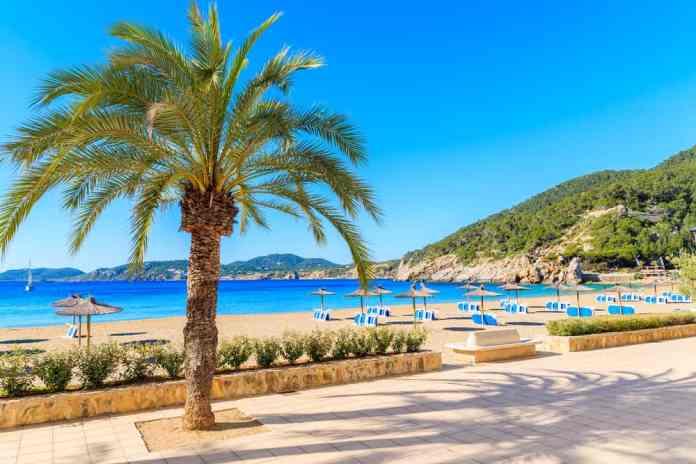 Cala San Vicente Plajı, İbiza, İspanya