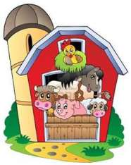 animals in barnyard
