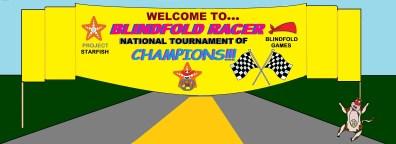 Blindfold Racer Championship banner